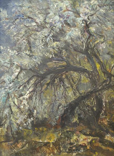 Աշնան փշատենի. 1975, կտավ, ստվարաթուղթ, յուղաներկ, 70×50, Հայաստանի ազգային պատկերասրահ