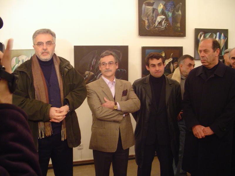 Ձախից՝ Ա․ Իսաբեկյան, Ս․ Գալենց, Կ․ Աղամյան։