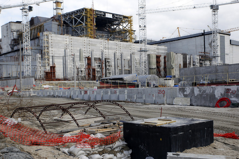 Chernobyl Nuclear Power Plant sarcophagus (Shelter Object