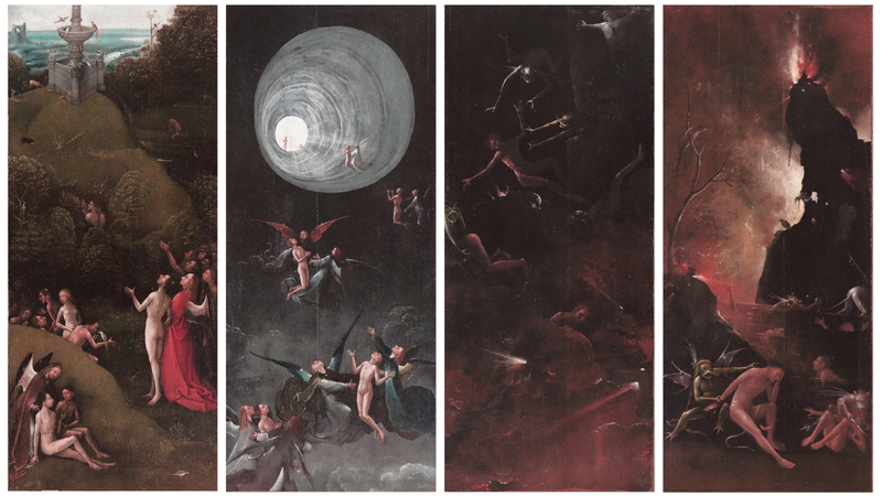 Hieronymus Bosch « Visions of the Hereafter» 1490, Palazzo Ducale, Venice