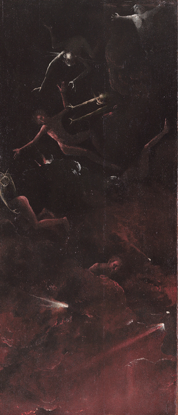 Hieronymus Bosch « Visions of the Hereafter» - Fall of the Damned into Hell