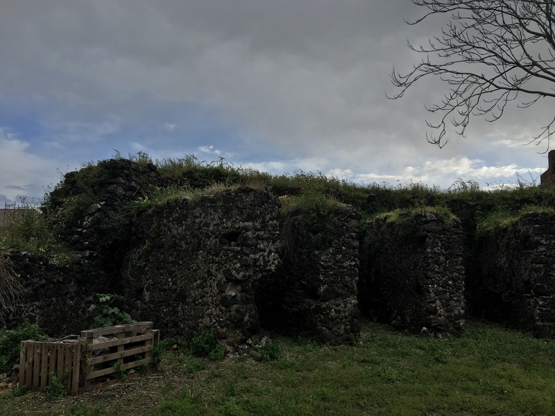 Evidenza delle mura del bastione