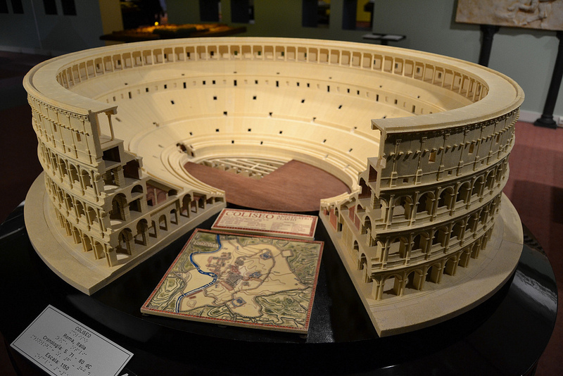 Coliseum Model. Courtesy of Museo Tiflológico