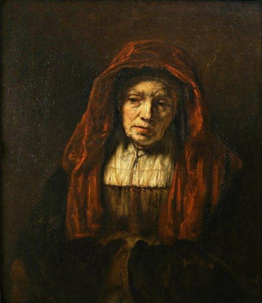 レンブラント 。老婦人の肖像 | ...